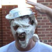 photo - Kevin Wright with pie all over his face