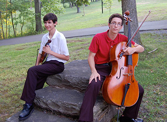 violinist Ted Froelich and Cellist JV Ortman